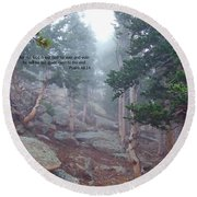 Scripture And Picture Psalm 48 14 Round Beach Towel