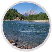 Scripture And Picture Revelation 22 1 Round Beach Towel