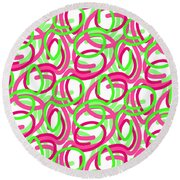 Scroll Round Beach Towel by Louisa Knight