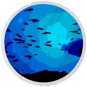 Scuba Dive Round Beach Towel
