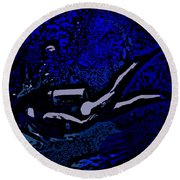 Scuba Girl Round Beach Towel