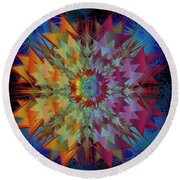 Sculpted Flower Round Beach Towel