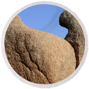 Sculpted Rock Round Beach Towel