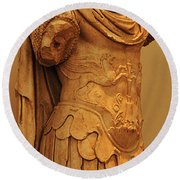 Sculpture Olympia 2 Round Beach Towel by Bob Christopher
