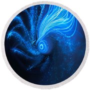 Sea At Night Round Beach Towel