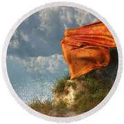 Sea Breeze Butterfly Round Beach Towel