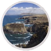 Sea Cliffs And Coastline Near Erris Round Beach Towel