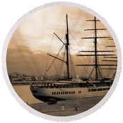 Sea Cloud II Round Beach Towel
