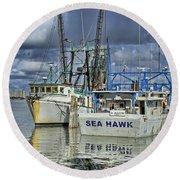 Sea Hawk Under Cover Round Beach Towel