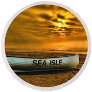 Sea Isle Dawn Round Beach Towel