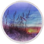 Sea Oats 5 Round Beach Towel