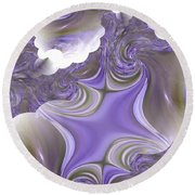 Sea Of Lavender Round Beach Towel