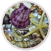 Sea Treasure - Landscape Round Beach Towel