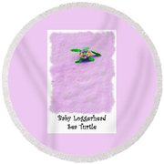 Sea Turtle Escape Card Round Beach Towel
