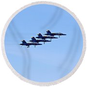Seafair Blue Angels Round Beach Towel