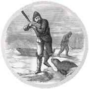Seal Hunting, 1867 Round Beach Towel