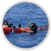 Search And Rescue Swimmers Retrieve Round Beach Towel