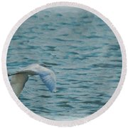 Searching Round Beach Towel