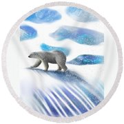 Searching For The Sun Round Beach Towel
