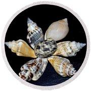 Seashell Floral Round Beach Towel