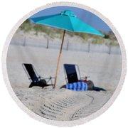 seashore 82 Beach Chairs Beach Umbrella and Tire Treads in Sand Round Beach Towel
