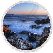 Seaside Rocks Round Beach Towel