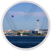 Seattle - American City Round Beach Towel