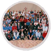 Seattle Archdiocese 2008 Priests. Round Beach Towel