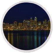 Seattle Moody Blues Round Beach Towel