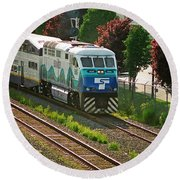Seattle Sounder Train Round Beach Towel