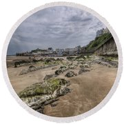 Seaweed Rocks Tenby Round Beach Towel