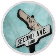 second Avenue 1400 Round Beach Towel