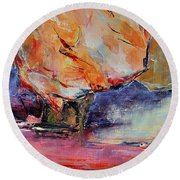 Seculaire Round Beach Towel by Francoise Dugourd-Caput