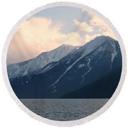 Selkirk Mountains Round Beach Towel
