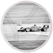 Sepia Racing Round Beach Towel by Darcy Michaelchuk