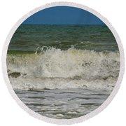 September Beach 2 Round Beach Towel