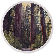 Sequoia National Park Round Beach Towel