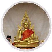Serene Buddha Round Beach Towel