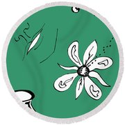 Serenity In Green Round Beach Towel