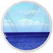 Setting Sail Round Beach Towel