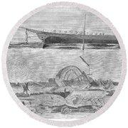 Sevastopol: Diver, 1858 Round Beach Towel