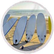 Seven Surfboards Round Beach Towel