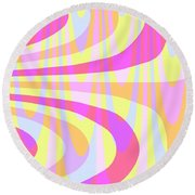 Seventies Swirls Round Beach Towel