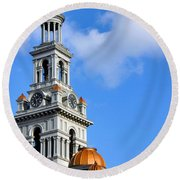 Sevier County Courthouse Round Beach Towel