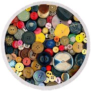 Sewing - Buttons - Bunch Of Buttons Round Beach Towel