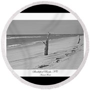 Shackleford Banks Ancient Forest  Round Beach Towel