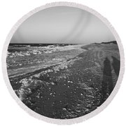 Shackleford Beach Morning Round Beach Towel