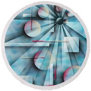 Shades Of Fibonacci Round Beach Towel