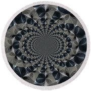 Shades Of Grey Round Beach Towel