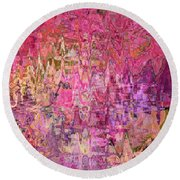 Shades Of Summer Round Beach Towel